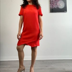Warehouse Coral Short Sleeve Shift Mini Dress 2